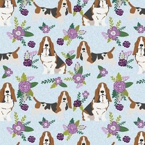 basset hound pet quilt c dog breed fabric floral coordinate