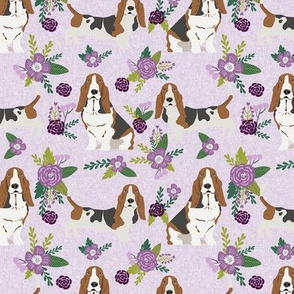 basset hound pet quilt c dog breed fabric floral coordinate