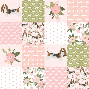 basset hound pet quilt d cheater quilt dog breed fabric wholecloth