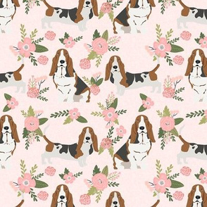 basset hound pet quilt d dog breed fabric coordinate floral