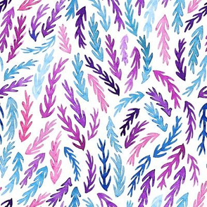 colorful watercolor branches