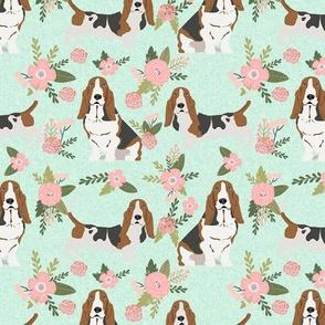 basset hound pet quilt d dog breed fabric coordinate floral