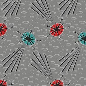 Meteors and Shooting Stars on Lunar Gray