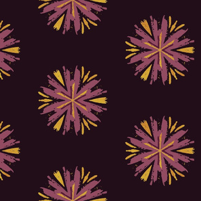 Gold & Purple Floral Splash