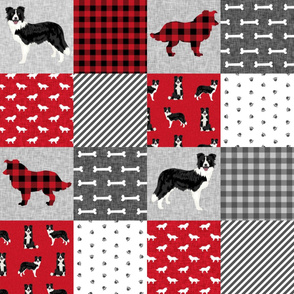 border collie pet quilt a cheater quilt dog breed nursery fabric