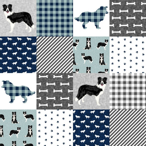 border collie pet quilt b cheater quilt dog breed nursery fabric