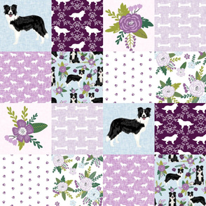 border collie pet quilt c cheater quilt dog breed nursery fabric
