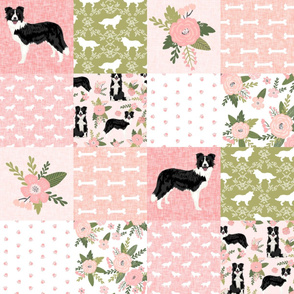 border collie pet quilt d cheater quilt dog breed nursery fabric