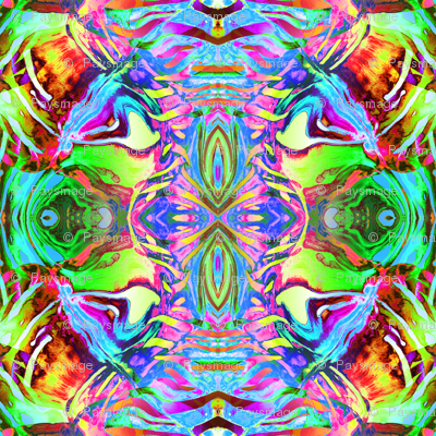 KOI ABSTRACT kaleidoscopic multicolor bright psychedelic