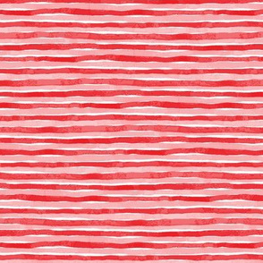 Red and Pink Watercolor Stripes