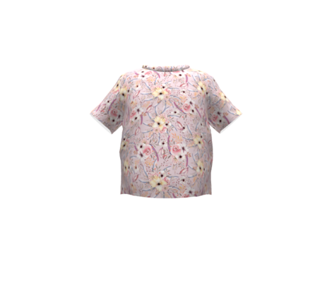 WATERCOLOR FLOWERS ON PINK COORDINATE TO SPRING TEEPEE