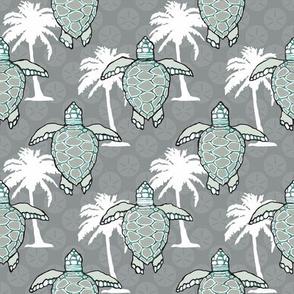Sea Turtles & Palms