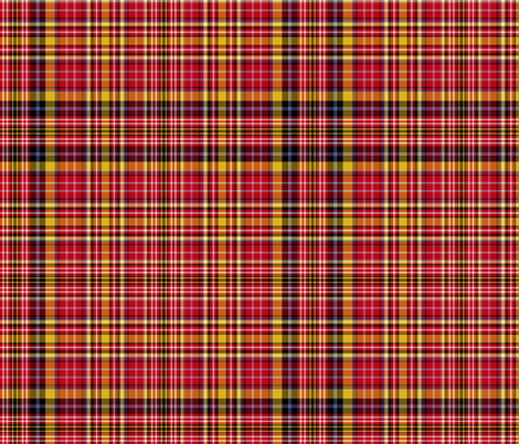 "Ogilvie of Strathallan red/yellow complex, 12"" fabric by weavingmajor on Spoonflower - custom fabric"