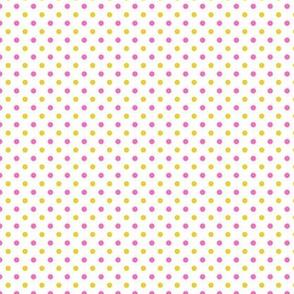 polka dot yellow & pink
