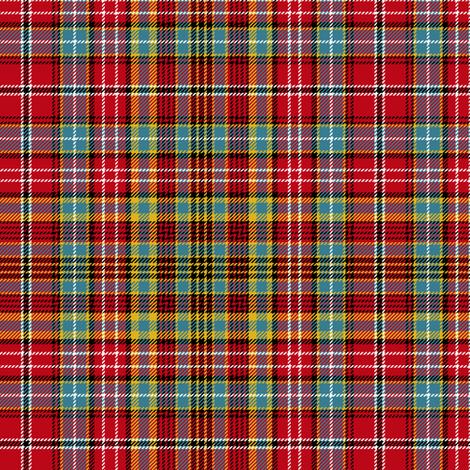 "Ogilvie red/aqua tartan, 6"" muted fabric by weavingmajor on Spoonflower - custom fabric"