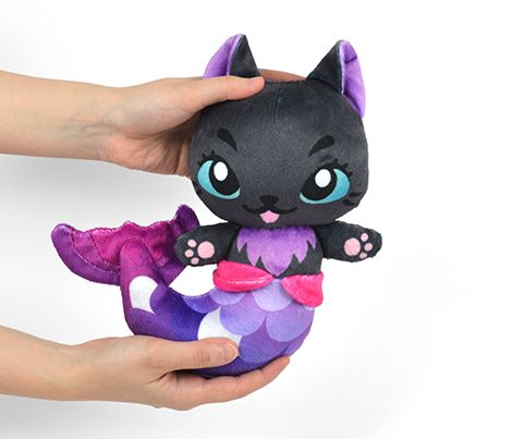 Cut & Sew Black Mer-kitty Plush