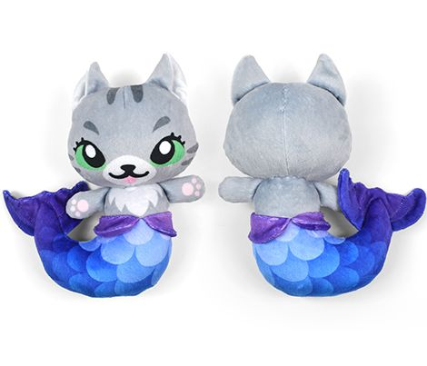 Cut & Sew Gray Mer-kitty Plush