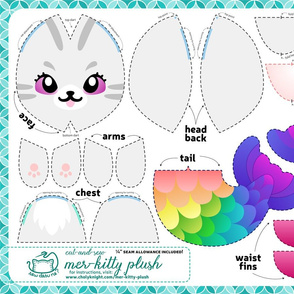 Cut & Sew Rainbow Mer-kitty Plush