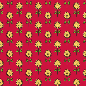 SUZANI FLOWER RED YELLOW