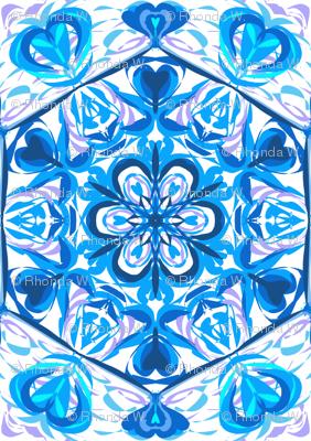 Blue Hearts Swingabout on White