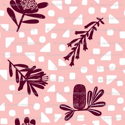 Little Australian Wildflowers: Pink