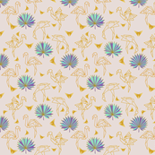 Gold Origami Flamingos * Palms * butterflies (almost mauve) N1