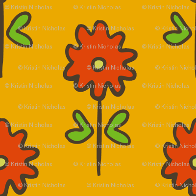 single suzani motif SMALL yellow red-01