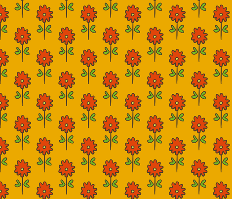 single suzani motif SMALL yellow red-01 fabric by kristin_nicholas on Spoonflower - custom fabric