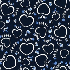 Hygge Hearts in Navy: small