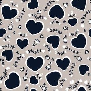 Hygge Hearts in neutrals: small