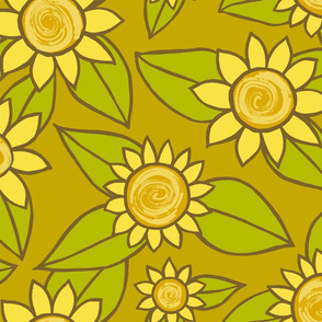 SUNFLOWER LARGE SCALE DESIGN