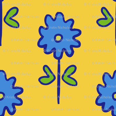 single suzani motif SMALL yellow blue-01