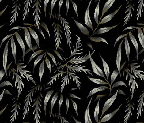 Brooklyn Forest - Black fabric by andreaalice on Spoonflower - custom fabric
