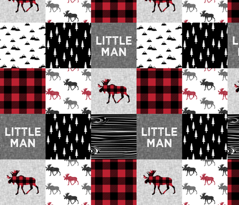 """4"""" small scale - little man patchwork quilt top 