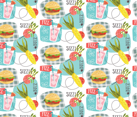 Sounds of Summer fabric by _jean_ruth on Spoonflower - custom fabric