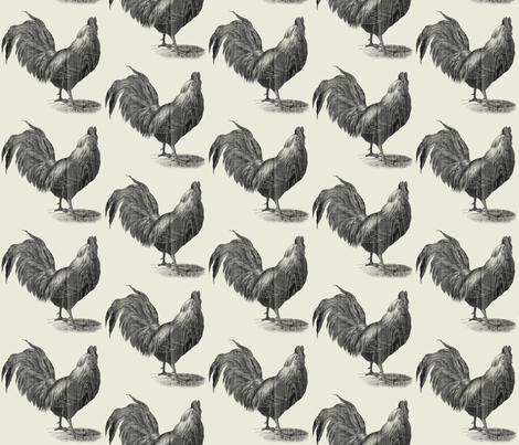 King of the Roost // Farmhouse // nicholefranklindesigns fabric by nicholefranklindesigns on Spoonflower - custom fabric