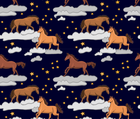 Horsey Heaven fabric by driessa on Spoonflower - custom fabric