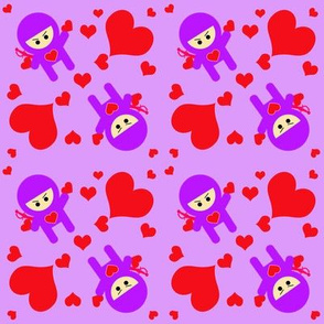 Ninjas Throwing Hearts