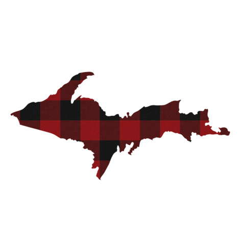 UP plaid red and black check upper peninsula michigan fabric by miss_good_stitch on Spoonflower - custom fabric