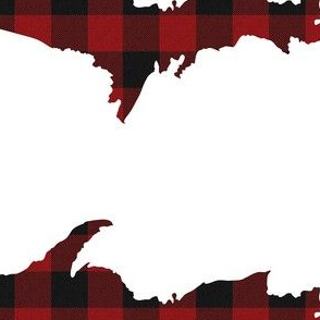 UP plaid red and black check upper peninsula michigan