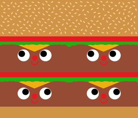 Burger Burger fabric by heidikenney on Spoonflower - custom fabric