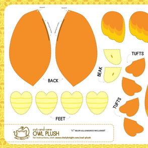 Cut & Sew Owl Plush Candy Corn