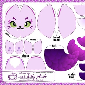 Cut & Sew Mer-kitty Plush Purple