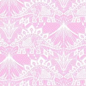 Stegosaurus Lace - Pink / White