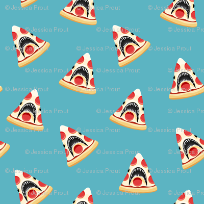 Pizza Shark - blue
