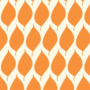 Retro Orange Leaf