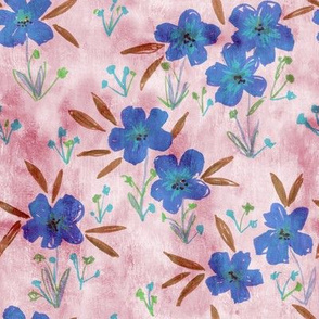 leila floral bluebell