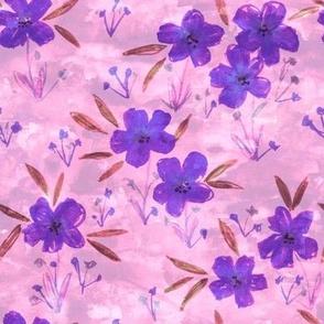 leila floral pink purple