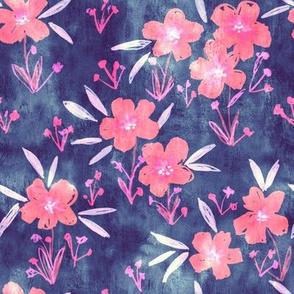 leila floral blue pink