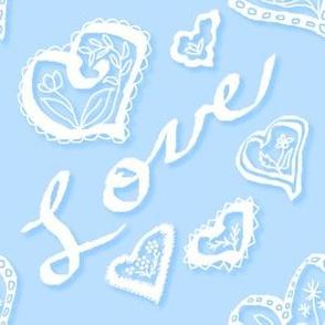 Love hearts Blue
